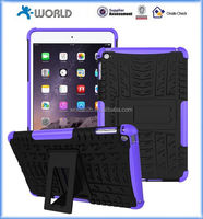hybrid armor shockproof case for ipad mini 4, dual layer heavy duty case cover with stand for ipad mini 4