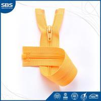 #3 Nylon zipper with plastic stopper open end auto lock