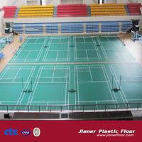Factory OEM rubber badminton sports floor mat/not pvc badminton court flooring