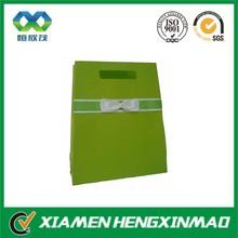 Green Paper Handbag Bag with bow tie ribbon gift bag