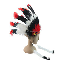 wholesale cheap indian feather headdress FW-0090