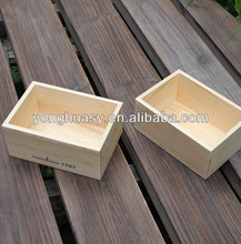 solid wood box without lid