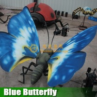 Amusement Park Animatronic Butterfly Insect Series For Sale