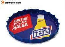 elegent packing food beverage snack colorful serving round tray