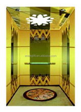 2015 newest hot selling titanium wall passenger elevator