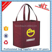 high quality printing pp non woven shopping tote bags