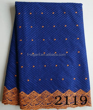 2015 hot selling royal blue swiss nylon folded yarns fabric lace,embroidery fabric lace with beads for dress