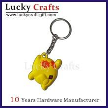 custom keyring/soft pvc keychain/rubber keychain