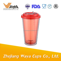 16oz Double wall plastic mug cup