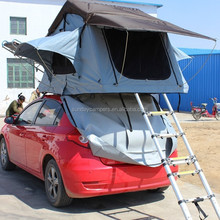 With Mosquito Room Aluminum pole materail camping shower Roof tent 2014 outdoor Camping tent with bed