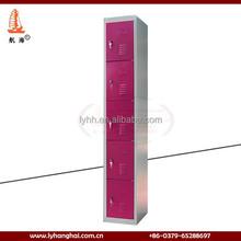 Easy assembled metal locker bedroom furniture 5 door folding clothes steel wardrobe steel clothes locker metal closet wardrobe