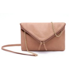 B162 2014 new fashion Double zipper gold chain shoulder bag
