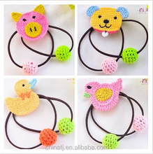 2015 Hot Sale New Design Christmas Ponytail Holder knitting Hair Band Rope /Cute Cheap kids ponytail holders hair accessories