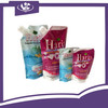 Custom made New Water Liquid Stand Up Pouch With Corner Spout/ Laminated Material Stand Up Pouch