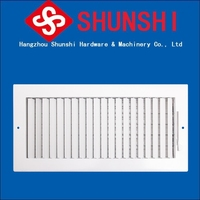 Steel air grille for air return exhaust and control with filter