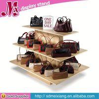 rotating wooden display shelf, MX8230 store retail free standing display rack