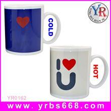 18 years Manufacture custom porcelain color changing mugs ,ceramic color changing mug