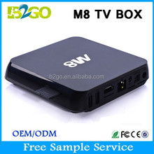 On Sale 2015 M8 dvb t2 tv box Amlogic S802 2g 8g kodi 14.0 2.4ghz WiFi Smart Android Tv Box