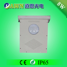 8W hot sale high quality integrated all in one led solar led street light lawn lights round fabric