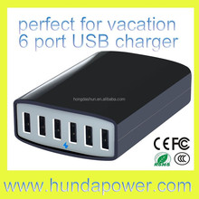 50/60 watt 5 port or 6 port usb charger 10a/12a with intelligent switching