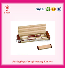 Fashion wooden pen boxes wholesale wooden pen box case