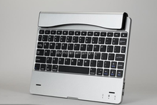 High Quality New Style Aluminium Bluetooth Wireless Keyboard with Holder for iPad Air