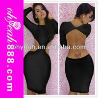 Wholesale fashion design celebrity bandage bodycon dress casual dress