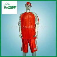 100% Polyester Dazzle and Mesh Fabric Football Shirt, Shorts and Cap Set (R#3045), Custom Football Jersey