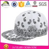 acrylic fabric custom short brim printing snapback hat with your own design