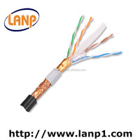 SFTP CAT6 lan cable 4Pair 23awg OEM braided ethernet cable