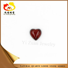 Factory directly sell heart shaped cabochon garnet red cubic zirconia stone