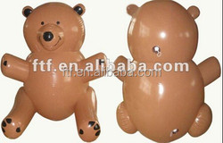 advertising animal pvc gray giant inflatable bear