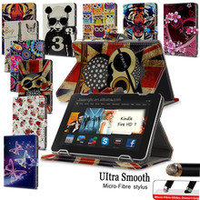 Smart Tablet Leather Case Cover For Kindle Fire HD 7 inch Folio Leather Case