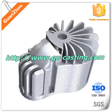 Aluminium custom made protetive case cover machinery parts by Alibaba express china GUANZHOU casting foundry