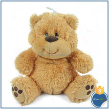 fluffy toys new toys 2015 sitting smiling soft baby brown plush stuffed teddy bear plush toy for Kids