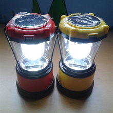 New product 5 LED outdoor rechargeable camping lantern portable solar lantern with mobile phone charger