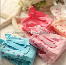 A506 2015 wholesale hot cute candy color mesh wave bow thin breathable cotton sexy women panties