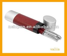 Leather gift ballpoint pen set for promotional product with cylinder box