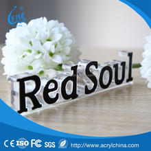 Custom acrylic brand block acrylic display stand block acrylic crafts and gifts