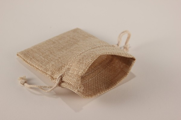 Wholesale Burlap Linen Fabric Favor Bags Drawstring Pouch Gift Wedding ...