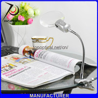 Led working clip type magnifier with illumination