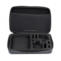 Protective Dual Action Camera Case - EVA Foam, PU Leather, For HD 4, 3+, 3, 2, Small Size JCAM SJ400
