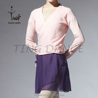 crossover adult pink long sleeve sweater
