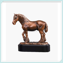 Home decoration polyresin bronze horse statue
