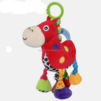 newly baby toy plush mini horse baby musical hanging toys