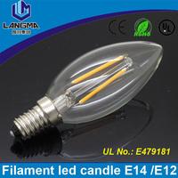 Langma Wholesale price AC85-265V CE ROHS UL 2W 4W 6W E14 Led Candle Bulbs Lights Warm/White High Bright Led SpotLights