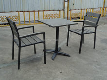 Outdoor plastic wood dinning set / plastic wood table chair for garden