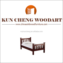MINIATURE DOLL HOUSE WOODEN FURNITURE SMALL CHILDS BED WITH MATTRESS