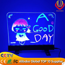 CE & ROHS & FCC Approved shops advertising board LED table board,led window board,High quality factory desktop led writing board