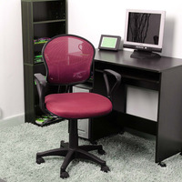 Pink Office/Computer Chair with arms with fabric pads(stocked at Otanrio)